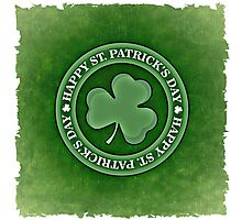 Happy Saint Patrick's day clover leaf Photographic Print