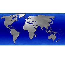 Metal Earth Map Photographic Print