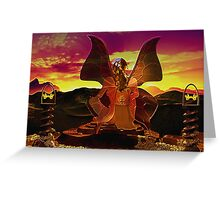 Mystical Butterfly Lady Greeting Card