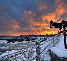 Sunset from Portland Head, Maine by Daniel Arthur Brown