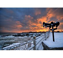Sunset from Portland Head, Maine Photographic Print