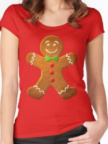 Gingerbread man Women's Fitted Scoop T-Shirt