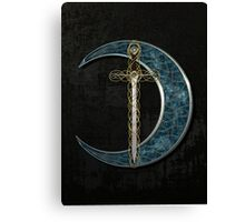 Celtic Moon and Sword Canvas Print