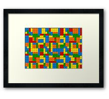 plastic blocks Framed Print