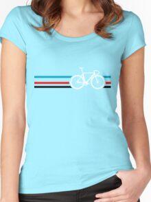 Bike Stripes Velodrome Women's Fitted Scoop T-Shirt