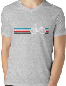 Bike Stripes Velodrome Mens V-Neck T-Shirt