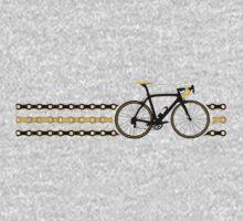 Bike Stripes Yellow/Black - Chain One Piece - Long Sleeve