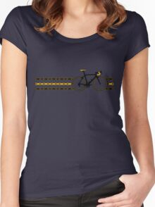 Bike Stripes Yellow/Black - Chain Women's Fitted Scoop T-Shirt