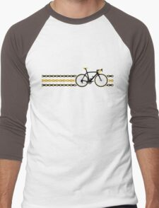 Bike Stripes Yellow/Black - Chain Men's Baseball ¾ T-Shirt