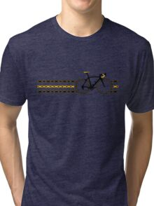 Bike Stripes Yellow/Black - Chain Tri-blend T-Shirt