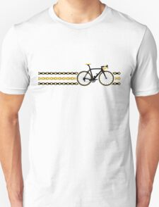 Bike Stripes Yellow/Black - Chain Unisex T-Shirt