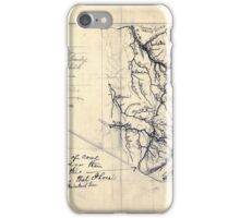 206 Map showing location of Flat top New River Gauly Lower Measures coal field West Virginia iPhone Case/Skin