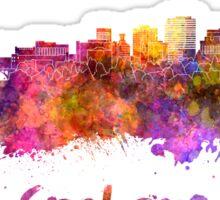 Spokane skyline in watercolor  Sticker