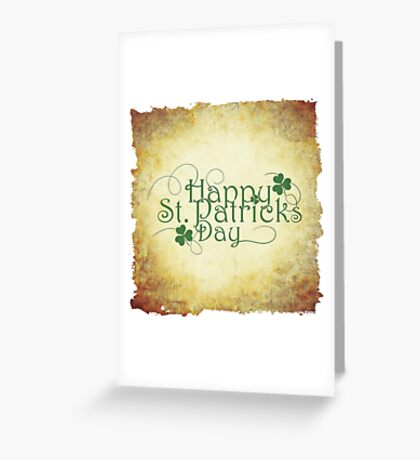 Happy Saint Patrick's day irish Greeting Card