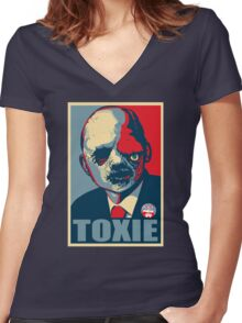 TOXIC AVENGER FOR PRESIDENT - VOTE TOXIE Women's Fitted V-Neck T-Shirt
