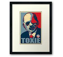 TOXIC AVENGER FOR PRESIDENT - VOTE TOXIE Framed Print