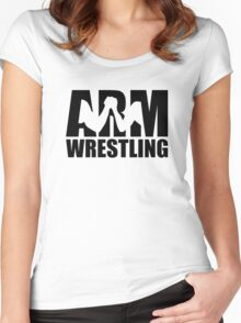 Arm wrestling Women's Fitted Scoop T-Shirt