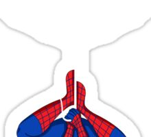 Spider on a shirt Sticker