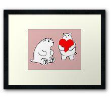 Shy Bear (Bear Love) Framed Print