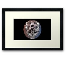 psychedelic face eye circle Framed Print