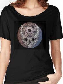 psychedelic face eye circle Women's Relaxed Fit T-Shirt