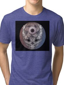 psychedelic face eye circle Tri-blend T-Shirt