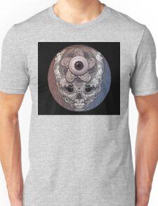 psychedelic face eye circle Unisex T-Shirt