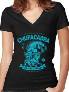 Chupacabra - Cryptids Case file #345 Women's Fitted V-Neck T-Shirt