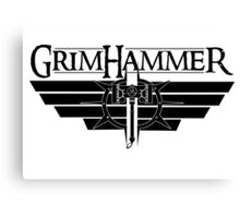 GrimHammer Logo With Text Black Canvas Print