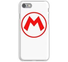 Mario Logo High res White Version iPhone Case/Skin