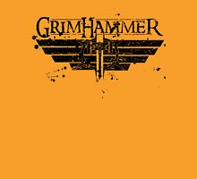 GrimHammer Logo With Text Grunged Black Unisex T-Shirt