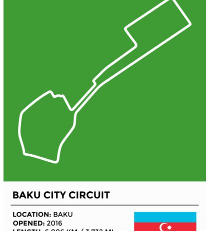 Baku City Circuit Sticker
