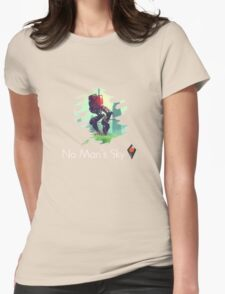 No mans sky dope robot Womens Fitted T-Shirt