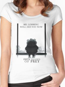 Zootopia fifty shades of pray parody Women's Fitted Scoop T-Shirt