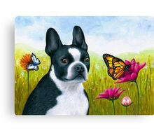 Dog 134 Boston Terrier Canvas Print