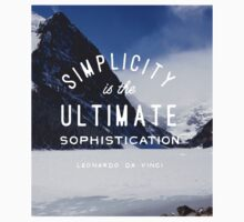 mountain simplicity is the ultimate sophistication nature typography One Piece - Short Sleeve