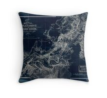 248 Sketch of the battle of Belle Grove or Cedar Creek Wednesday Octr 19th 1864 Inverted Throw Pillow