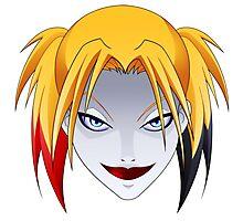 Comic Blonde Girl ORIGINAL Design (Videogame Version) Photographic Print