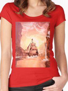 Fantasy landscape Women's Fitted Scoop T-Shirt