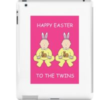 Happy Easter to the twins. iPad Case/Skin