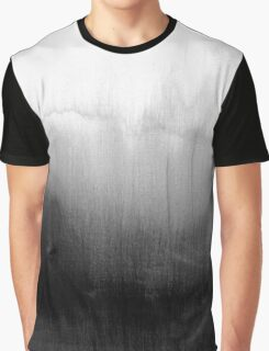 Modern Black and White Watercolor Gradient Graphic T-Shirt
