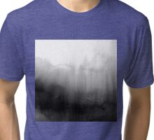 Modern Black and White Watercolor Gradient Tri-blend T-Shirt