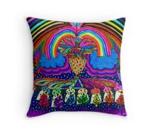 Psychedelic Abduction  Throw Pillow