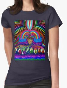 Psychedelic Abduction  Womens Fitted T-Shirt