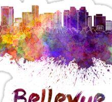 Bellevue skyline in watercolor Sticker