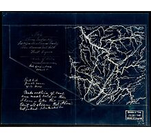 206 Map showing location of Flat top New River Gauly Lower Measures coal field West Virginia Inverted Photographic Print