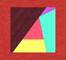 Modern Stripes and Color Block Geometric Pattern Tri-blend T-Shirt