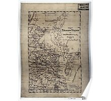 196 Map of Tide-water Virginia Poster