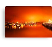 Harbor rays  Canvas Print