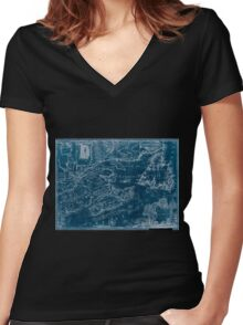 American Revolutionary War Era Maps 1750-1786 969 This map of the province of Nova Scotia and parts adjacent Inverted Women's Fitted V-Neck T-Shirt